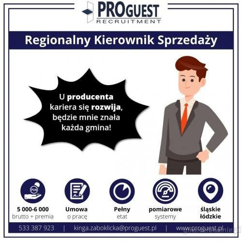 Regionalny Kierownik Sprzedaży, woj. śląskie, łódzkie